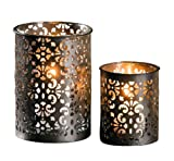 Metall-Windlicht Paisley', 2er Set