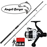 Angel-Berger Angelset Steckrute und Rolle (2.10m Rute + 120 RD Rolle)
