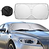 Auto Sonnenschutz, Mture Sommer Sonnenschutz Auto UV-Schutz Sonnenschirm Nylon Silber Auto...