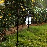 Ohuhu 2 Stück Solar-Gartenleuchten, LED-Leuchten für Außen, solarbetrieben, für Garten, Outdoor,...
