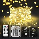 Begleri Sicher Batterie-Lichterkette für Kinderzimmer,Innen-romantisch-deko,Timer-Fernbedienung mit...