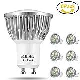 LED Lampen GU10, Jpodream 6W 18 x 5730 SMD LED Leuchtmittel, Ersatz für 60W Halogen Lampen,...