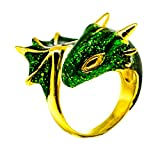 Gold Emerald Dragon Ring by MONVATOO London, eine freie Größe (einstellbares Band) 18 Karat...