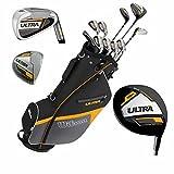Wilson Ultra Herren Komplettes Golfschläger Set & Ständer Tasche Schläger aus Graphit Golf...