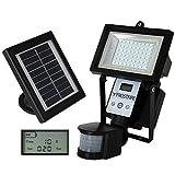 Frostfire Digitale 80 LED Ultrahelle Solares Leuchte mit Bewegungsmelder