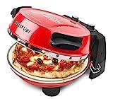 G3Ferrari G10032 Pizzamaker, Ofen Napoletana mit einem zusätzlichen Stein im Deckel zum Überbacken