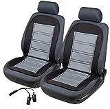 2x beheizbare Sitzauflage/Sitzheizung Warm Up 16590 schwarz/grau + Doppelsteckdose für 12V...