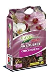 CUXIN DCM AKTIV-ERDE Orchideen 10 Ltr. - mit Weißtorfbröckchen und Dekorrinden für eine optimale...
