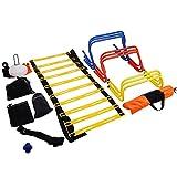 ZauberLu Fußball Training Set Trainingsleiter Fußball Trainingsgeräte Koordinationsleiter...