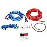 Qiilu Universal 8GA Auto Audio Subwoofer Verstärker Lautsprecher Installationskabel Kabel Kit W /...