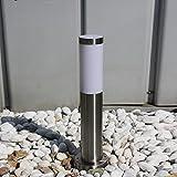 LHG Moderne Wegeleuchte aus Edelstahl | Wegelampe für Energiesparlampen | Außenleuchte mit...