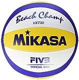 Mikasa Beachvolleyball Beach Champ VXT 30, blau/gelb/weiß, 5