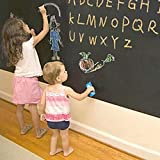 MFEIR Tafel-Aufkleber Selbstklebende Tafelfolie Kreidetafel in der Größe 60x200 cm in Schwarz