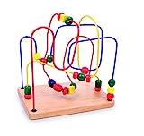 Motorikschleife / Geschicklichkeitsspiel aus Holz mit drei verschieden farbigen Schleifen, zur...