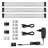 LE 3er LED Unterbauleuchte Schrankleuchte, 12V DC, LED Schrankbeleuchtung mit Stecker, ultra dünne...