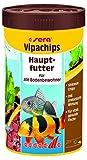 Sera 00515 vipachips 250 ml - Hauptfutter aus sinkenden Chips für alle Bodenbewohner im Aquarium