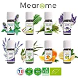 8 ätherische BIO Öle • für Diffuser- AROMATHERAPIE Set • Ätherisches Öl • 100% naturrein...