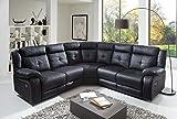 SAM® Ecksofa Alessio in schwarz, Kunst-Leder, pflegeleichte Oberfläche, modernes Design [521695]