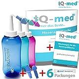 Nasendusche von iQ-med 500ml + Rezeptbuch + 2 Aufsätze   Nasenspülung: Natürliche Hilfe bei...