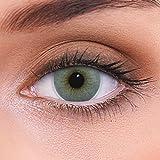 """Stark deckende natürliche graue Kontaktlinsen farbig """"Atlantis Grey"""" + Behälter von LENZOTICA..."""