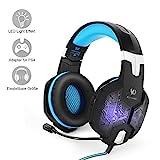 PC&PS4 Gaming Headset, marsboy Gaming Kopfhörer mit Mikrofon LED Effekt für PS4 PC Film Gaming...