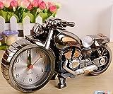 Motorrad Wecker Chameleon Clock Mode Persönlichkeit Stil nach Hause gaben feinen Uhren (Silber)