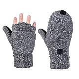 Vbiger Fingerlose Fäustlinge Damen Fingerhandschuhe Fingerlos Halb Handschuhe Gestrickte Strick...