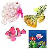 GOOTRADES 3 Stk/Set Künstliche Fische Glühende Effekt Aquarium Deko Schwimmende Ornament