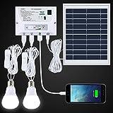 SUAOKI Solarleuchte Außen LED 4.5 W Faltbar Panel Solar Home System Kit – inkl. Handy Ladegerät...