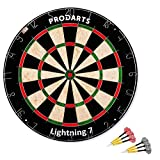 Dartscheibe Lightning 7 - Turniermaße: 451 mm Durchmesser, 38 mm Dicke - A-Klasse Sisal Bristle...