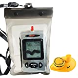 Lucky FFW-718 Wireless wasserdicht Portable Sonar Fish Finder mit Punkt Matrix 40m Reichweite...
