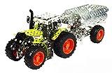 Tronico 10011 - Metallbaukasten Traktor Claas Arion 430 mit Kippanhänger, Maßstab 1:32, Mini...