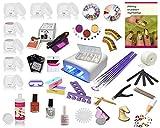Nagelstudio Starterset UV Gel Set Inkl. Nagelfräser UV Lampe Nailart ist ein ideales Nail Set für...