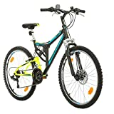 Fahrrad MTB Mountainbike Fully Full Suspension 26 Zoll Bikesport PARALLAX Shimano 18 Gang (Schwarz...