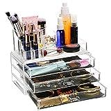 Oliote Acryl Kosmetik Organizer Schmuckkästchen Schubladenbox Schminke Kosmetikorganizer 2 Ebenen 3...