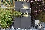 Springbrunnen 'Grada' Bepflanzbar mit LED Beleuchtung, Wasserfall Gartenbrunnen Kaskade...