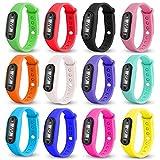 opuss Digital LCD Silica Gel Schrittzähler Run Schritt Fuß Kalorienzähler Uhr Armband...