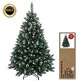 RS Trade® 120 cm grün mit Schnee künstlicher, exklusiver, dekorierter Weihnachtsbaum, beschneite...