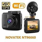 2,4 'Auto Dash Cam, 4 Karat Dash Kamera, 150 Grad Weitwinkel Auto Kamera mit GPS, WiFi, G-Sensor,...
