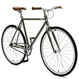 Critical Cycles Harper Fixed Gear Urban Commuter Pewter Single Speed Bike, Birch, 53cm
