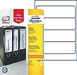 Avery Zweckform L6061-10 Ordnerrücken Etiketten (A4, 40 Rückenschilder, breit/kurz, selbstklebend,...
