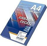 100 Einbanddeckel Lederstruktur, Falambi / Premium 240 Rückenkarton (dunkelblau)