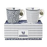 Laura Ashley - Henkelbecher-Set - Blueprint - 10,6 x 8 cm - 2-teilig - Klein