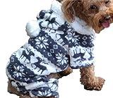QIYUN.Z Vier Beine Schwarz Weiß Samt Schnee Rehe Weihnachten Hoodie Hund Pullover Winter Warme...