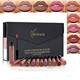 Rechoo 12 Stück Wasserdicht Langlebig Matte Liquid Lipstick Schönheit Lippe Gloss, Sexy...