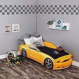KAGU Autobett Kinderbett Jungendbett Juniorbett im Design eines echten Autos auch mit...