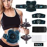 【2019 Neue Version 】EMS Bauchmuskeltrainer, HIEHA EMS Training Muskelstimulator USB...