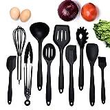 10 Stücke Silikon Küchenutensilien Küchenhelfer-Kochen Zange,Spaghettiheber,Silikon...