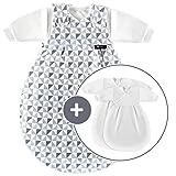 Alvi Baby Mäxchen Original / Ganzjahres Baby-Schlafsack - 3-tlg. mit gefüttertem Außensack und 2...