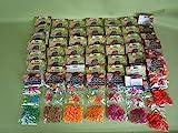 46 Packungen Loom Bänder bunt gemischt über 9000 Gummiringe ***Super-Set*** Preis gilt für das...